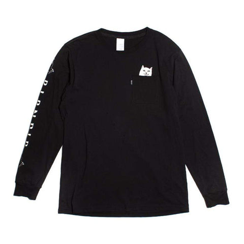 Ripndip Lord Nermal Long Sleeve Tee Black