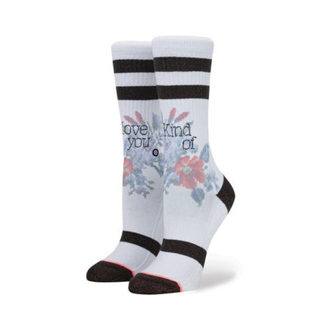 Stance Womens Sock Maybe Baby White-50-50 Skate Shop