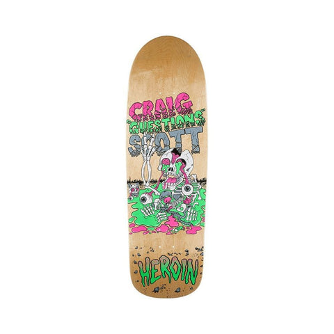 "Heroin Skateboard Deck Craig Question Slime Boy 10.0"" x 32"" Natural-50-50 Skate Shop"