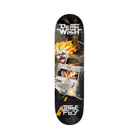 "Deathwish Skateboard Deck Foy Metal Mayhem 8.25"" x 31.5"" - 50-50 Skate Shop"