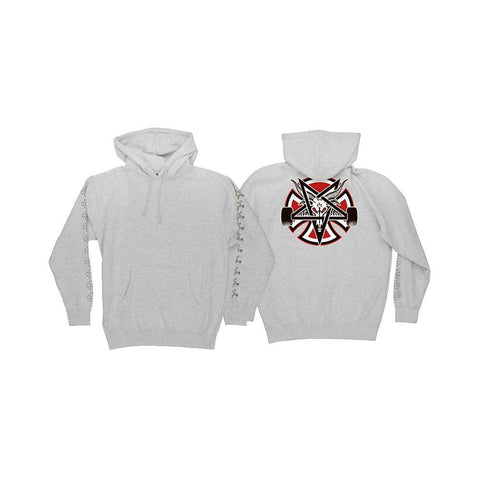 Independent x Thrasher Pentagram Cross Hoodie Grey Heather-50-50 Skate Shop