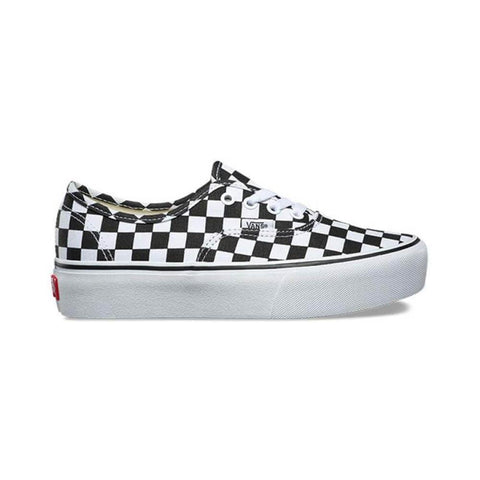 Vans Authentic Platform 2.0 Checkerboard True White - 50-50 Skate Shop