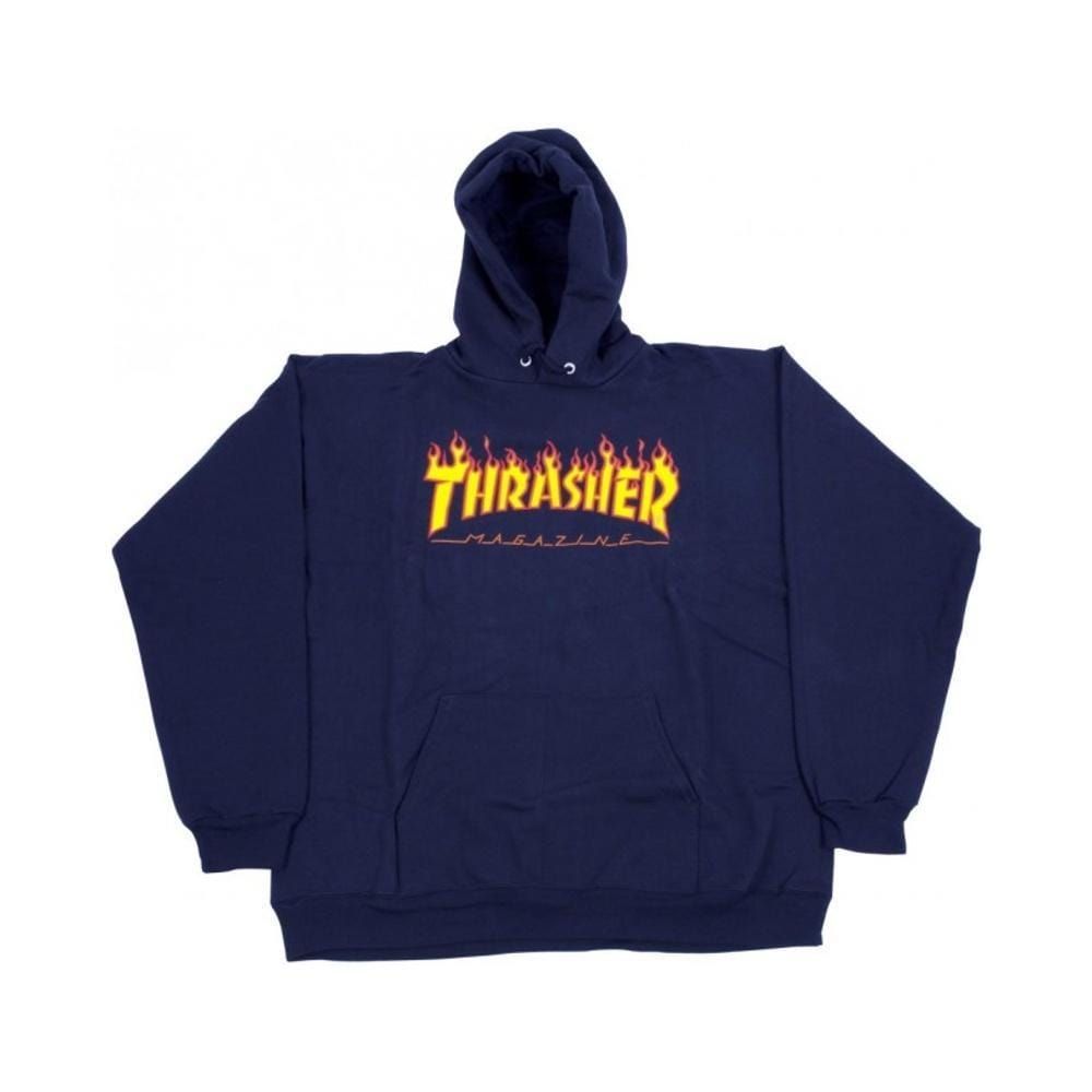 Thrasher Flame Logo Hoodie Navy