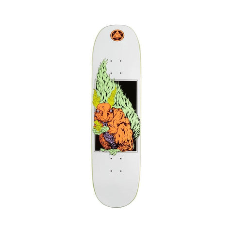 "Welcome Skateboard Deck Squizard On Moontrimmer 2.0"" 8.5"" x 32"" White-50-50 Skate Shop"