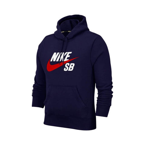 Nike SB Hoodie Icon Pullover Midnight Navy University Red - 50-50 Skate Shop