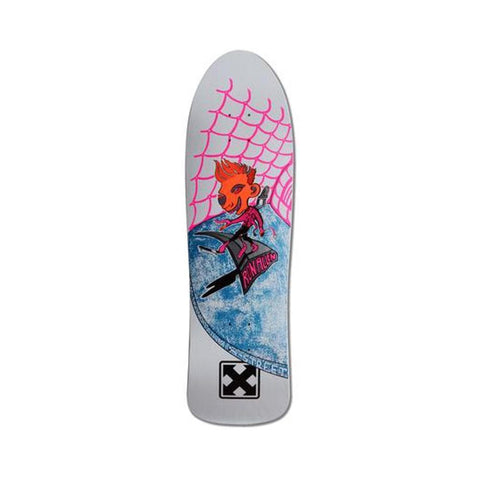 "H-Street Skateboard Deck Ron Allen Original Shackle Me Not 9.25"" x 32.8"" White Dip-50-50 Skate Shop"