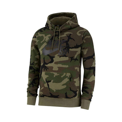 Nike SB Hoodie Icon Camo Medium Olive Black-50-50 Skate Shop