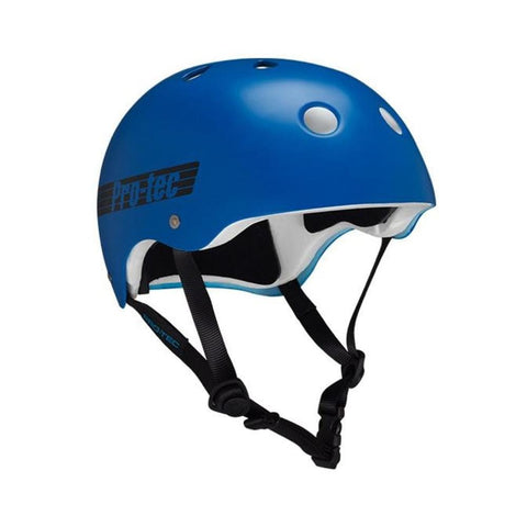 Pro Tec Classic Certified Bike Skate Helmet Blue Retro-50-50 Skate Shop