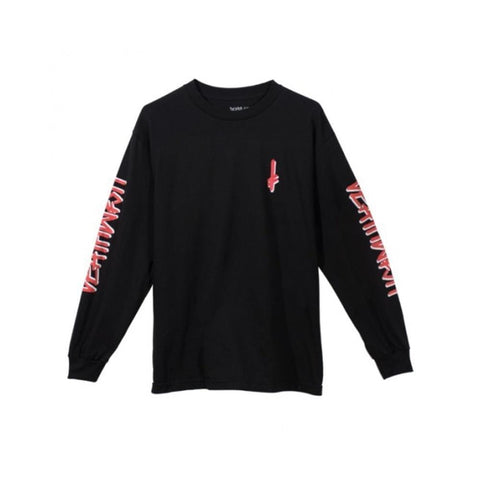 Deathwish Tee Landmark Black Red Long Sleeve Shirt - 50-50 Skate Shop