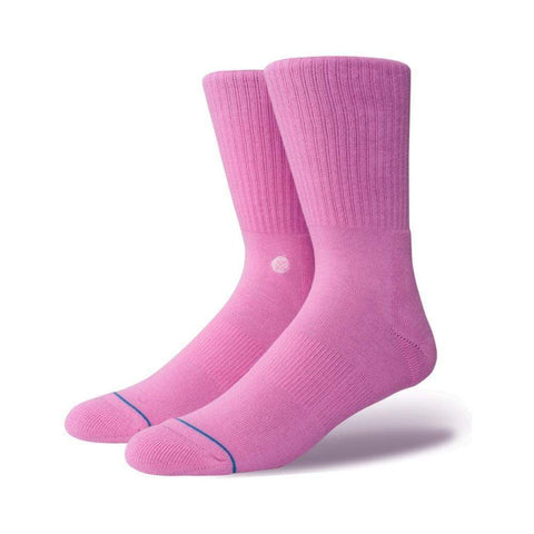Stance Mens Icon Athletic Socks Saturated Pink_Q116D14ICO-SPNK