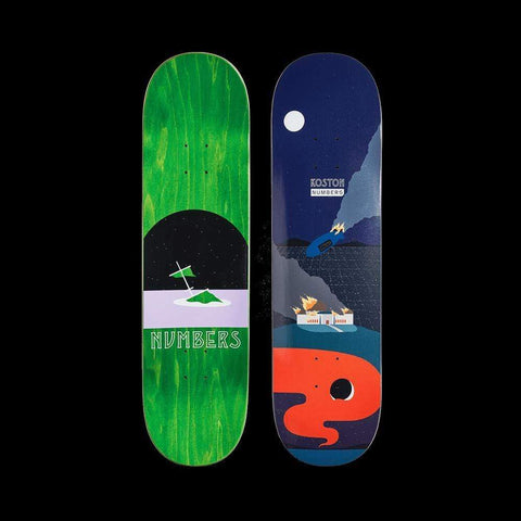 "Numbers Skateboard Deck Koston Edition 6 Series 1 8.5"" x 32"" - 50-50 Skate Shop"