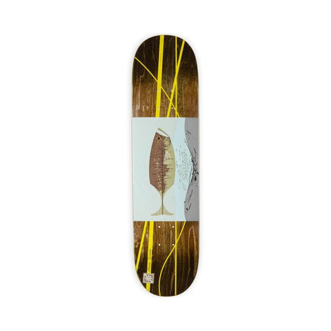 "Habitat Skateboard Deck Harper Familiar Fish Marius Syvanen 8.0"" x 31.5"" Brown - 50-50 Skate Shop"
