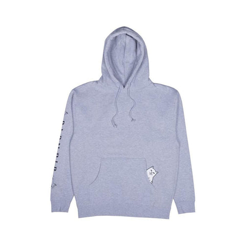 Ripndip Lord Nermal Hoodie Grey Heather-50-50 Skate Shop