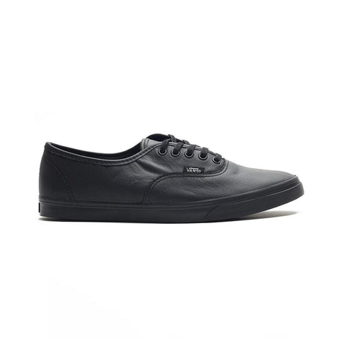 Vans Authentic Lo Pro Italian Leather Black Black-50-50 Skate Shop