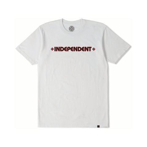 Independent Bar Cross Youth Tee White-50-50 Skate Shop