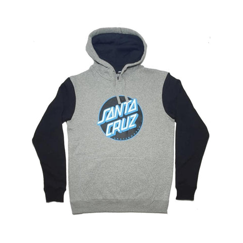 Santa Cruz Other Dot Pop Hoodie Grey Heather Black-50-50 Skate Shop