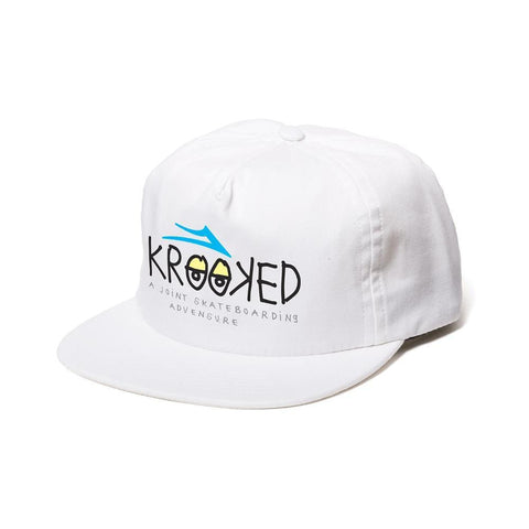 Lakai x Krooked Relaxed Fit Hat White - 50-50 Skate Shop