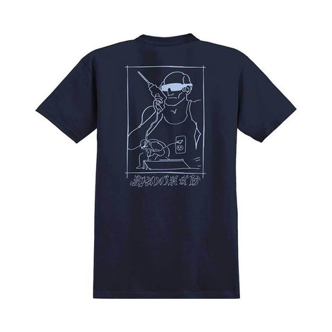 Krooked Tee SK8 Dad Navy - 50-50 Skate Shop