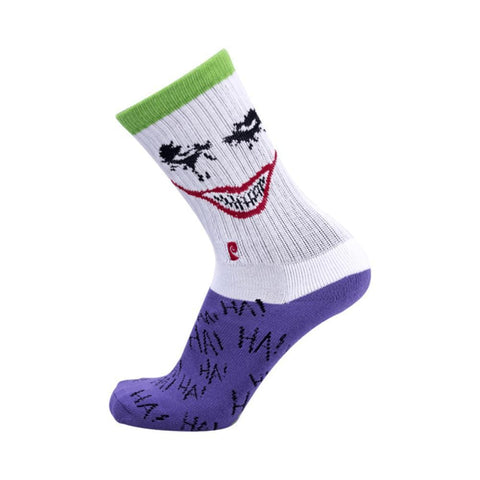 Psockadelic HAHAHAHA Socks Purple White-50-50 Skate Shop