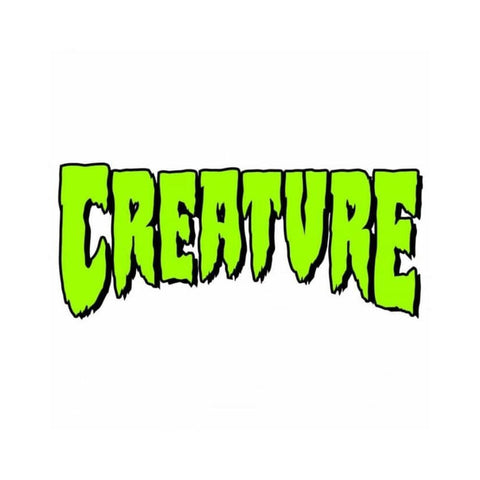 "Creature Logo Sticker 6"" x 2.75"" (Mixed Styles and colors) - 50-50 Skate Shop"