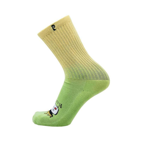 Psockadelic Socks Burnt Green Single Pair-50-50 Skate Shop