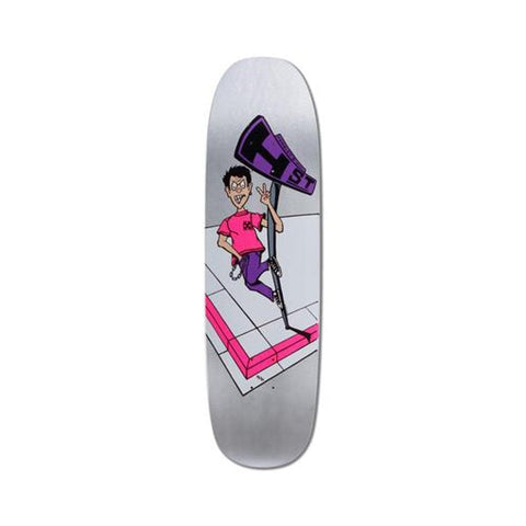 "H-Street Skateboard Deck Matt Hensley Full Size Mini Graphic 8.9"" x 32.5"" Silver Metallic Dip-50-50 Skate Shop"