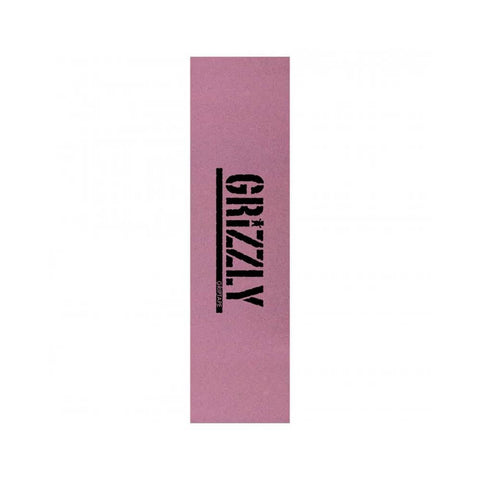 "Grizzly Skateboard Grip Tape Tinted Stamp Pink 9"" x 33"" - 50-50 Skate Shop"