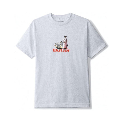 Butter Goods Priest Tee Ash Grey-50-50 Skate Shop