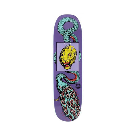 "Welcome Skateboard Deck Glam Dragon On Moontrimmer 2.0 8.5"" x 32.2"" Purple-50-50 Skate Shop"