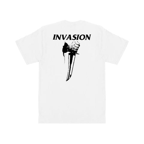 Fucking Awesome Invasion T-Shirt White-50-50 Skate Shop