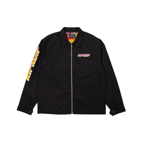 Ripndip Coach Jacket Racing Team Cotton Twill Black - 50-50 Skate Shop
