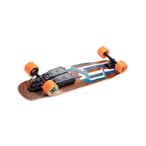 "Unlimited x Loaded Electric Skateboard Complete Basalt Tesseract Blue 9.5"" x 39"" with Race Kit-50-50 Skate Shop"