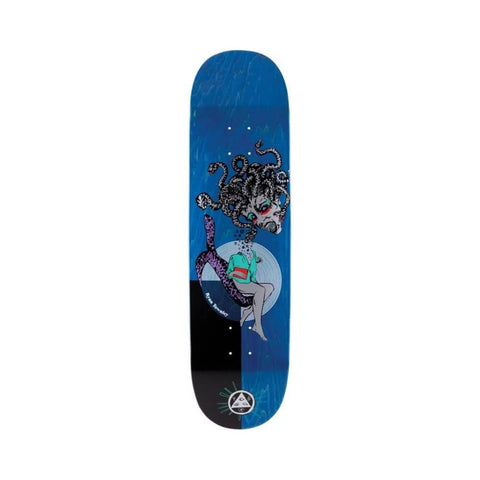 "Welcome Skateboard Deck Gorgon On Enenra 8.5"" x 31.96"" Blue Black-50-50 Skate Shop"