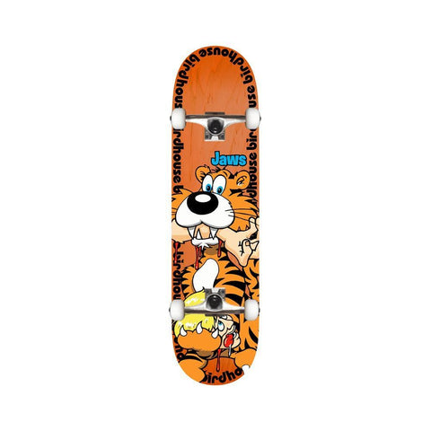 "Birdhouse Skateboard Complete Pro Jaws Tiger 8.25"" x 31.9""  Orange - 50-50 Skate Shop"