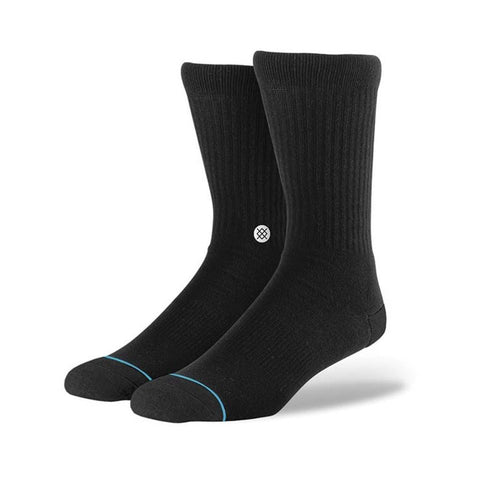 Stance Icon Socks Black/White-50-50 Skate Shop