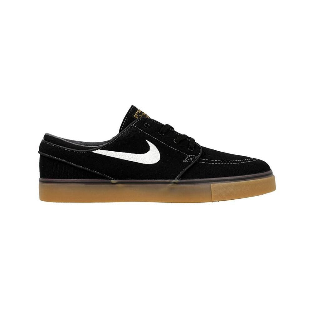 Nike Zoom Stefan Janoski Canvas Black White Metalic-50-50 Skate Shop