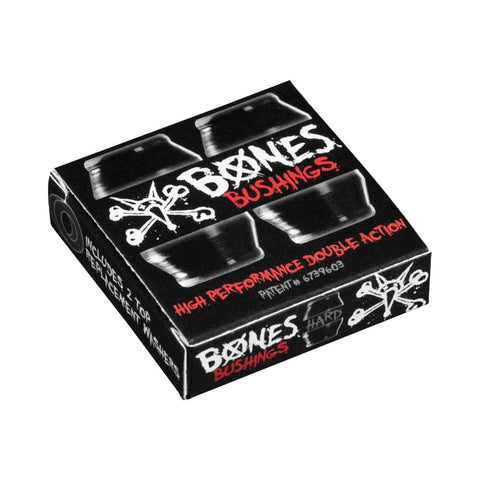 Bones Hardcore Bushings Hard 96A Black Set of 4 - 50-50 Skate Shop