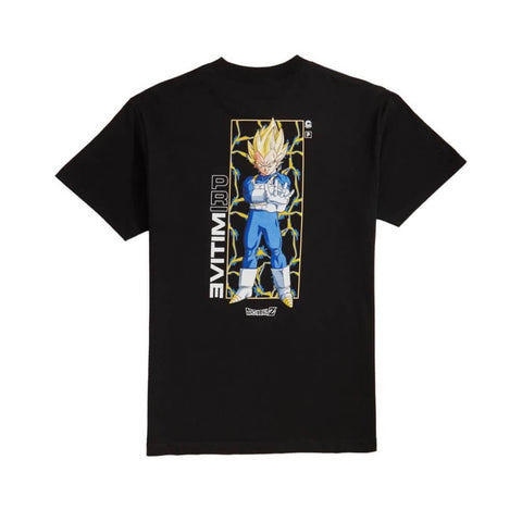 Primitive Tee Dragon Ball Z Vegeta Glow In The Dark Black - 50-50 Skate Shop