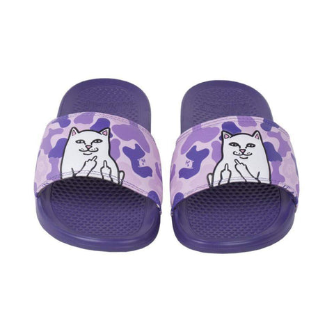 Ripndip Lord Nermal Slides Purple Camo-50-50 Skate Shop
