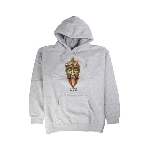 Fucking Awesome Trouble Hoodie Grey Heather-50-50 Skate Shop
