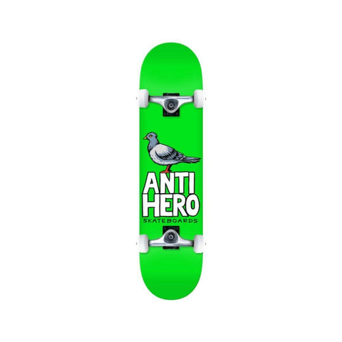 "Anti Hero Skateboard Complete Pigeon Hero 8.25"" x 31.69 Green - 50-50 Skate Shop"