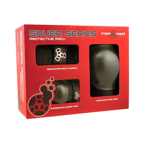 Triple 8 Tri Pack Saver Series Black - 50-50 Skate Shop