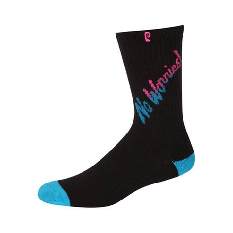 Psockadelic Socks No Worries Black Teal-50-50 Skate Shop