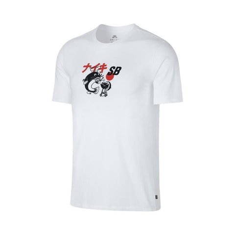 Nike SB Dri Fit Tee BBQ Fish White Black-50-50 Skate Shop