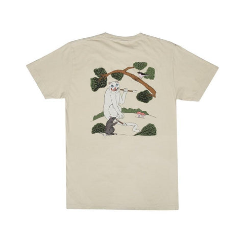 Ripndip Pipe Dreams Tee Tan-50-50 Skate Shop