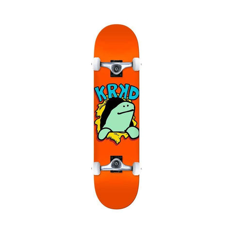 "Krooked Skateboard Complete Shmoo Krash 7.75"" x 31.5"" Orange - 50-50 Skate Shop"