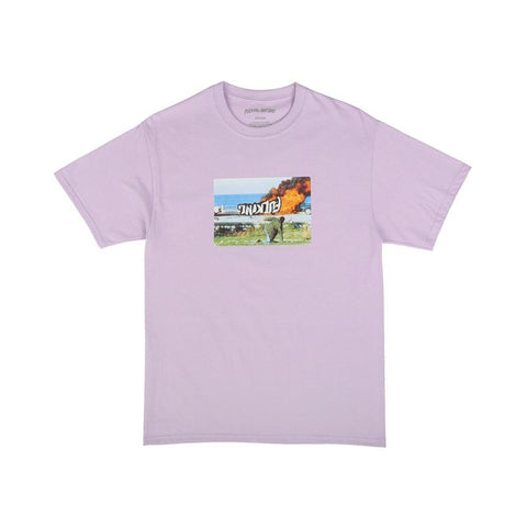 Fucking Awesome Car Burn Tshirt Lavender-50-50 Skate Shop