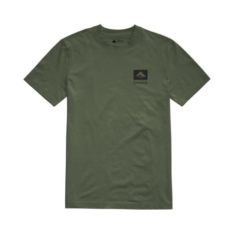 Emerica Brand Combo Tee Army Green - 50-50 Skate Shop