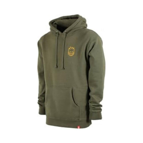 Spitfire Hoodie LIL Bighead Hombre Embroided Army Green Gold - 50-50 Skate Shop