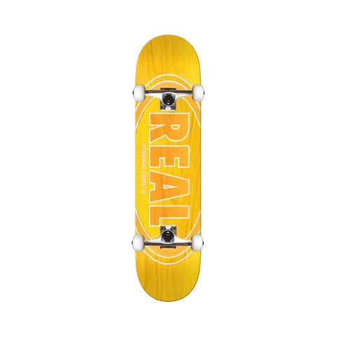 "Real Skateboard Complete Duofade Oval 8.25"" Yellow-50-50 Skate Shop"